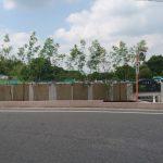 入口に植栽を植えました。 埼玉の公園墓地 庄和苑